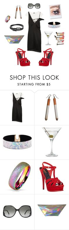 """Holographic Feelings"" by robinnnnnnn ❤ liked on Polyvore featuring R13, Forever 21, Nordstrom, Yves Saint Laurent, Chloé, Kzeniya, McQ by Alexander McQueen, NightOut, party and holographic"