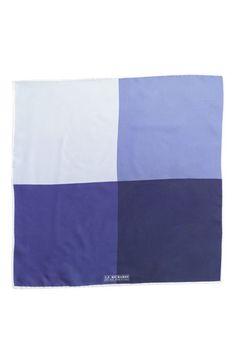 $39, Blue Pocket Square: J.Z. Richards Silk Pocket Square Blue One Size. Sold by Nordstrom. Click for more info: https://lookastic.com/men/shop_items/221011/redirect