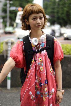 Japanese Model Natsume Mito at the Harajuku Street