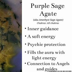Purple Sage Agate crystal meaning