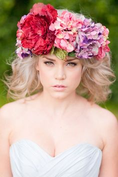 """""""Wildflower"""" Floral Hairpieces From Shut The Front Door"""