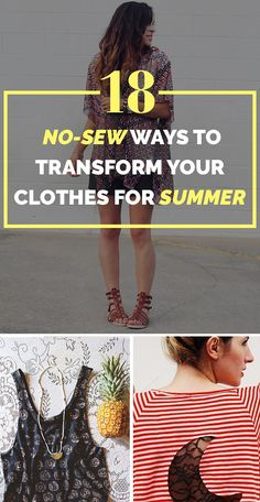 18 Cheap No-Sew Ways To Make Your Old Clothes New Again !