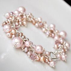 Bridal Cuff Bracelet Swarovski Bridal Bracelet by somethingjeweled Bracelet Swarovski, Freshwater Pearl Bracelet, Bridal Bracelet, Wedding Jewelry, Bridal Cuff, Pandora Jewelry, Pearl Jewelry, Beaded Jewelry, Handmade Jewelry