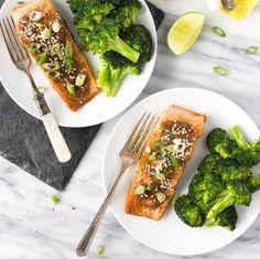 Miso Ginger Glazed Salmon #recipe via Fork in the Kitchen http://www.yummly.co/#recipe/Miso-Ginger-Glazed-Salmon-2073926