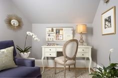 Wall color is Nightingale AF-670 by Benjamin Moore. This was more of what I was thinking instead of Grape Creme by Behr.