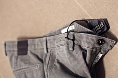 Printed texture on best quality italian #pants - The gentleman's choice