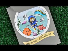 Intro to Lift the Flap Circles and Porthole Frames + a card from start to finish - YouTube