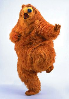 Ohmigod. Its that one bear from that one childhood show I used to watch. looking back I can see why my childhood is messed up...look at that....ehhh