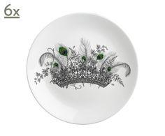 Набор из 6 тарелок Crown   Westwing Интерьер & Дизайн