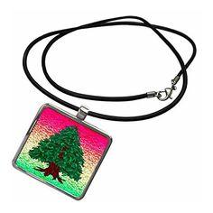 3dRose DYLAN SEIBOLD - LINE ART - CONIFER TREE - #Necklace With Pendant #gifts 3dRose LLC  Link:
