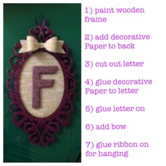 Framed letter