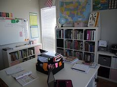 Awesome homeschool room set up