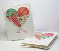 2/13/2013; Allison Cope at 'Your Memories with Ally' blog; Super Simple Homemade Valentine's Cards; great tutorial