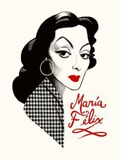 María Félix / mexican artist/ by Francisco Javier Olea