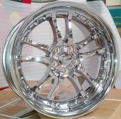 ALT Wheels 353 - 20 inch Chrome Rims and Tires Pkg