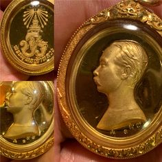 Very rare gold royal Kathina model 2537 with code and serial number 197. Size 2.8cm wide and 3.2cm high. Big ceremony in Wat Bowen 24 March and 21 April 2537 and 3rd time ceremony at Wat Suthat 29-30 April 2537. Create for Royal Kathina cloth ceremony 24 March, Amulets, Size 2, Coding, Number, Big, Create, Model, Gold