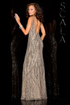 #SCALA  Spring 2016 style 48581 Lead! #scalausa #spring2016 #prom2016 #gown #promdress #eveningwear #dress #sequins #specialoccasion #prom2k16 www.scalausa.com