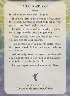 """ Aspiration"" From the Angels of Light Cards"