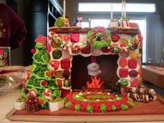 gingerbread house fireplace