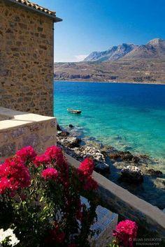 Limeni village in Lakonia , Greece