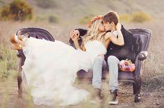 Wedding kiss - Armchair - Sneakers - Floral wedding crown.jpg