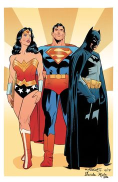 The Batman | declandane:  Dc's Trinity art by Wilfredo Torres...