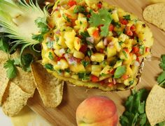 Peach-Pineapple Salsa ... a great salsa flavor combination. {The Kitchen is My Playground}