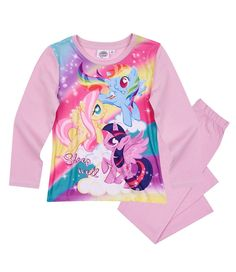 Hasbro My Little Pony Girls Long Sleeve Pyjamas Pjs Set 100% Cotton 2dba48571