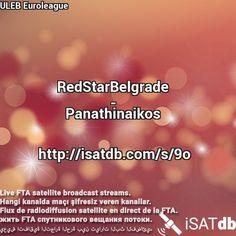 #RedStarBelgrade #Panathinaikos #ULEBEuroleague Live FTA satellite broadcast streams. Hangi kanalda maçı şifresiz veren kanallar. Flux de radiodiffusion satellite en direct de la FTA. يعيش اتفاقية التجارة الحرة بين تيارات البث الفضائي. http://isatdb.com/s/9o