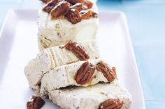 Maple syrup pecan ice-cream loaf - RECIPE