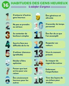 Infographie : 16 habitudes des gens heureux