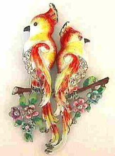 Coro Lovebirds on a Flowering Branch Duette