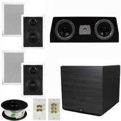 Theater Solutions 51 Home Audio Speakers 4 Speakers 1 Center 15 Powered Sub and More TS50WC51SET8 ** You can find more details by visiting the image link.Note:It is affiliate link to Amazon.