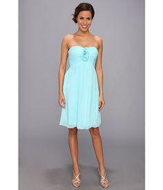 Donna Morgan $189 Hallie Light Blue Ruched Strapless Dress Size 10 | eBay
