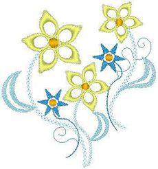 Floral 2 One Color 4x4- FREE! | FREE | Machine Embroidery Designs ...