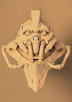 cyberpunk, mask, head