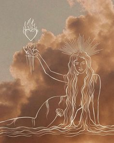 Hippie Art, Aesthetic Art, Beige Aesthetic, Art Inspo, Painting & Drawing, Line Art, Fantasy Art, Cool Art, Art Drawings