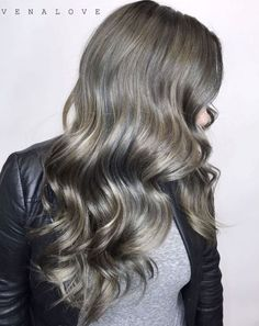 Subtle Gray Highlights For Ash Brown Hair