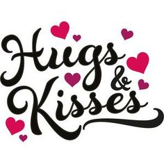 I think I'm in love with this design from the Silhouette Design Store! Great Day Quotes, I Love You Quotes, Good Night Quotes, Love Yourself Quotes, Hugs And Kisses Quotes, Hug Quotes, Kissing Quotes, I Love You Pictures, Love You Images