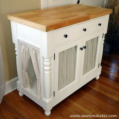 Kitty Litter Cabinet from a Kitchen Island from @sawsonskates