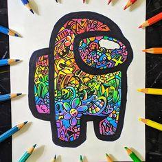 Cute Doodle Art, Doodle Art Designs, Doodle Art Drawing, Mandala Drawing, Mandala Art, Cute Art, My Doodle, Cool Designs To Draw, Doodling Art