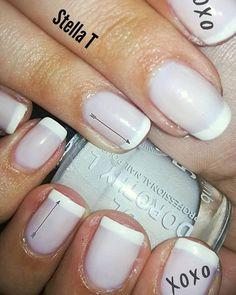 French manicure 💄 #NailArt #MyNailArt #DorothyL #FrenchManicure #Arrows #XOXO Nailart, Manicure, Nail Designs, Nail Polish, French, Photo And Video, Arrows, Beauty, Instagram