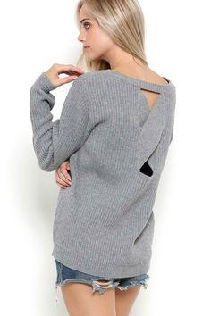 Knit X Open-Back Sweater