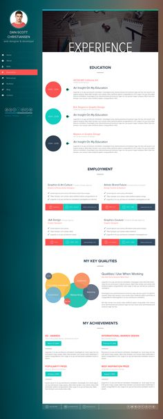 Resume #website design. This would be great for a UI or web designer.