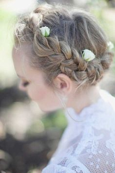 braided hair wreath