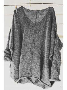 1d3964416d3f2d Scoop Neck Long Sleeves Thin Plain Sweater For Women Neue Modetrends, Junge  Frauen, Strickmuster