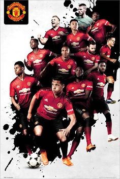 Buy Man United Players Maxi Poster - online and save! Man United Players Maxi Poster – Maxi Poster 61 × Our posters are rolled, wrapped and shipped in poster mailing. Manchester United Fans, Alexis Sanchez Manchester United, Manchester United Wallpaper, Football Players Images, Soccer Players, Man United, Jesse Lingard, Marcus Rashford, Football Wallpaper