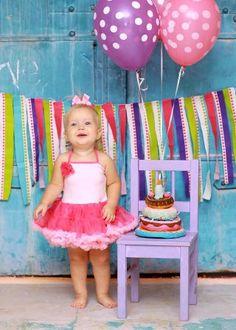 Hot & Light Pink Rosette Birthday Baby Girl Pettiskirt Dress.  Great for her first birthday party!