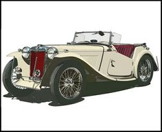 Vintage car and supercar famous photos Classic Sports Cars, Classic Cars, Art Sport, Vintage Cars, Antique Cars, Mg Cars, Car Illustration, Cars Motorcycles, Super Cars
