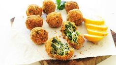 Like your favorite spinach and artichoke dip – but fried into crunchy little appetizer balls!